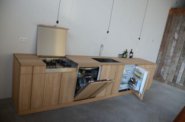 Eiken Keukenblad : Keuken op maat HOUTd